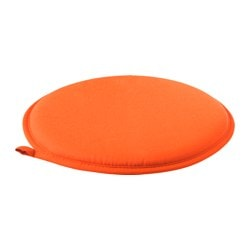 CILLA chair pad, orange Diameter: 34 cm Thickness: 2.5 cm