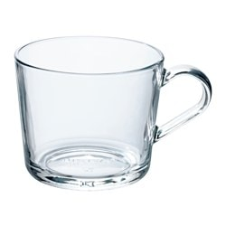 IKEA 365+ mug, clear glass Height: 9 cm Volume: 36 cl