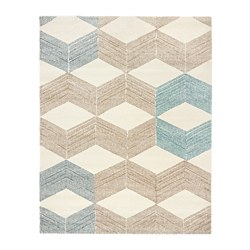 "MARSLEV rug, high pile, beige, turquoise Length: 7 ' 10 "" Width: 2 ' 2 "" Area: 17.01 sq feet Length: 240 cm Width: 66 cm Area: 1.58 m²"