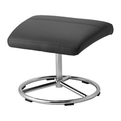 MALGHULT footstool, Bomstad black Length: 49 cm Width: 41 cm Height: 39 cm