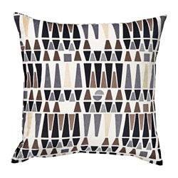 MALISEN cushion, white, beige