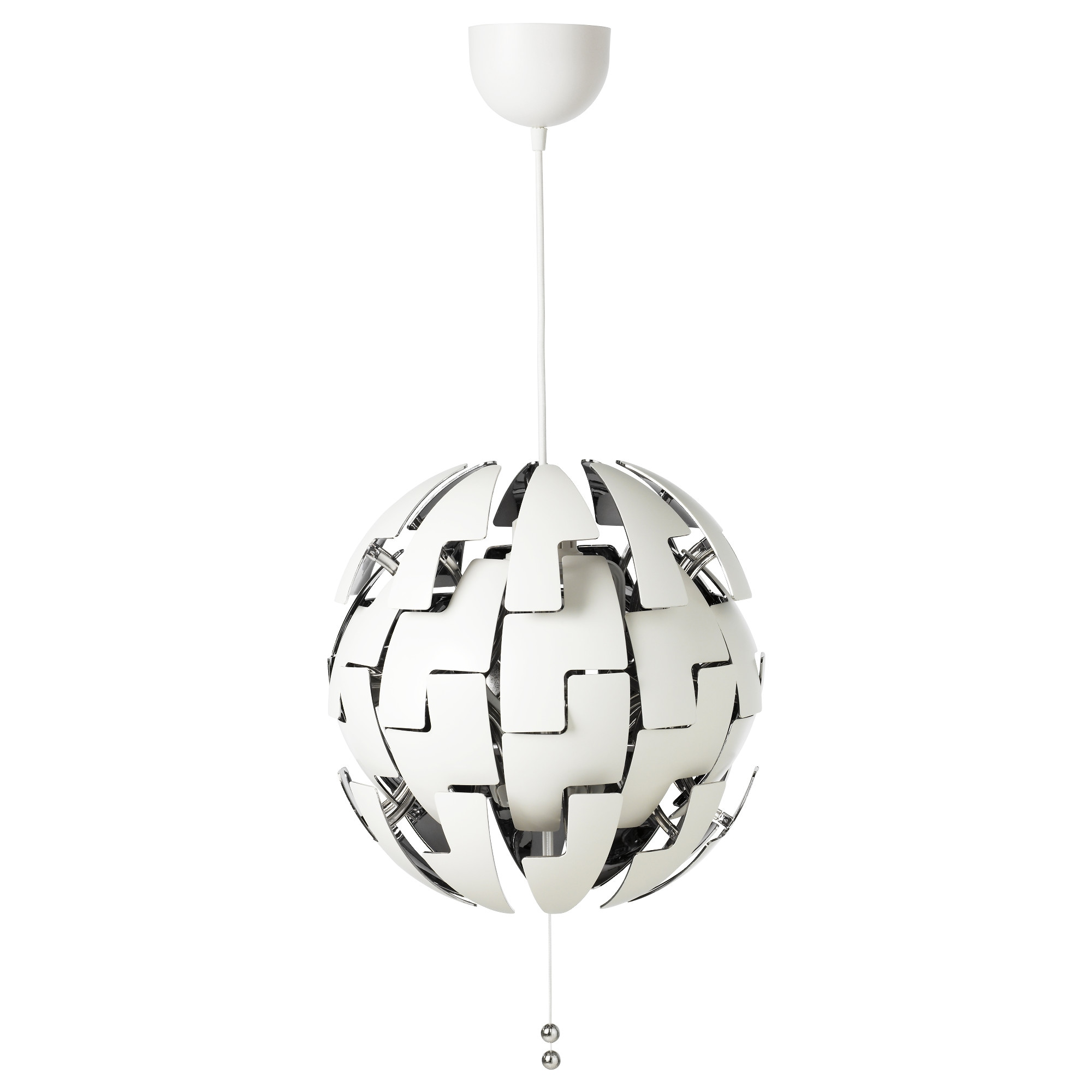ikea ps 2014 pendant lamp white silver color max 13 w diameter - Suspension Origami Ikea
