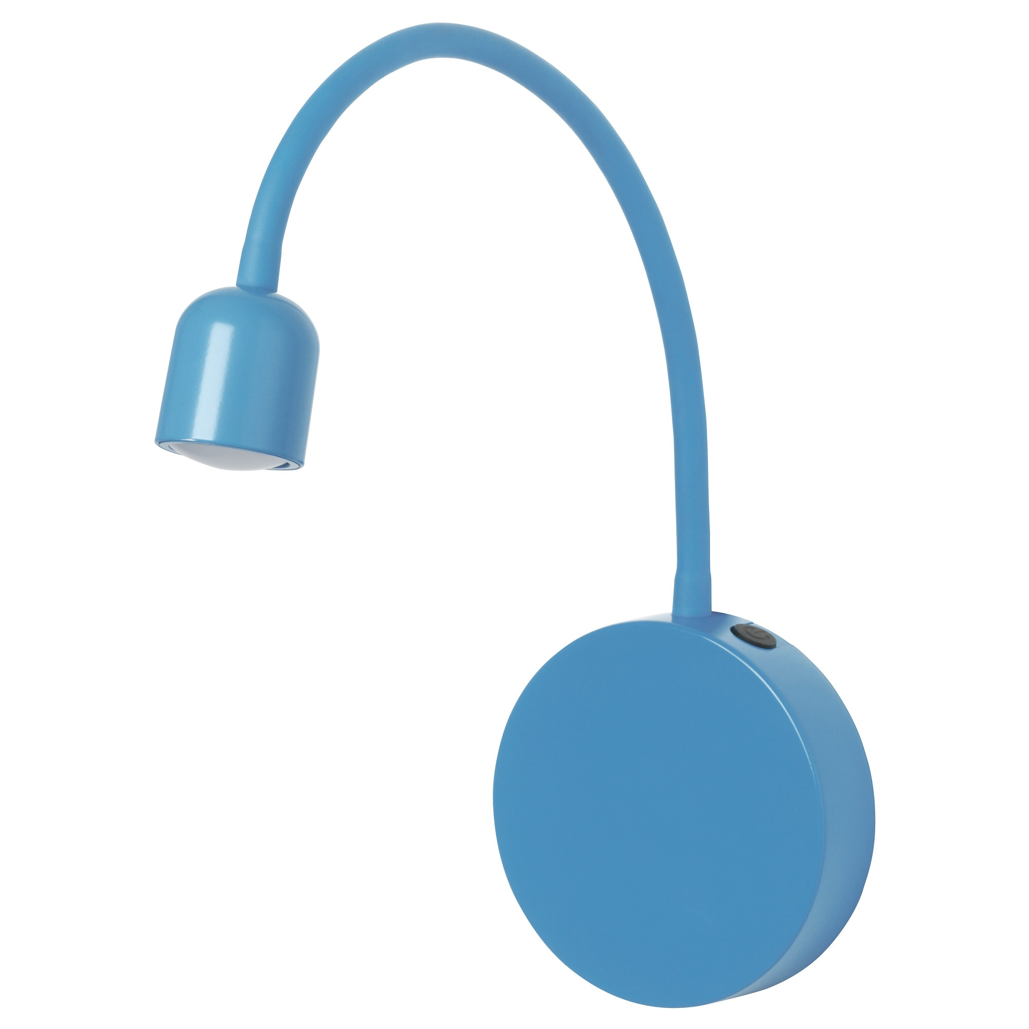 BLÅVIK LED wall lamp - battery-operated blue - IKEA