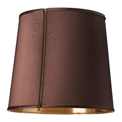 SUNNEMO lamp shade, gold-colour, dark brown Diameter: 45 cm Height: 41 cm