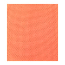 SLÖJBLOMMA plastic-coated fabric, orange Width: 140 cm Pattern repeat: 2 cm Area: 1.40 m²