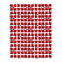 ÖNSKEDRÖM plastic-coated fabric, square, red/white Width: 140 cm Pattern repeat: 64 cm Area: 1.40 m²
