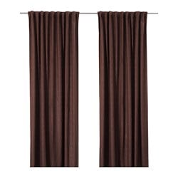 KARDTISTEL curtains with tie-backs, 1 pair, brown Length: 250 cm Width: 145 cm