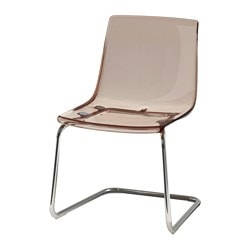 TOBIAS chair, chrome-plated, brown Tested for: 110 kg Width: 55 cm Depth: 56 cm