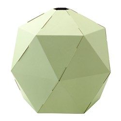 JOXTORP pendant lamp shade, light green Diameter: 44 cm Height: 38 cm