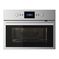 RAFFINERAD microwave combi with forced air, stainless steel Width: 59.5 cm Depth: 54.5 cm Height: 45.5 cm