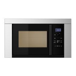 VÄRMA microwave oven, stainless steel Width: 59.5 cm Depth: 37.5 cm Height: 34.7 cm