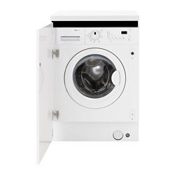 RENLIG integrated washing machine, white Width: 59.6 cm Depth: 54.4 cm Height: 82.0 cm