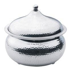 DOFTRIK bowl with lid, aluminium Diameter: 23 cm Height: 16 cm