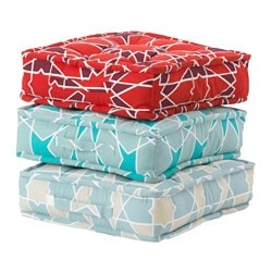 DOFTRIK floor cushion, assorted colours Length: 48 cm Width: 48 cm Thickness: 10 cm