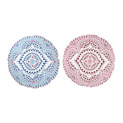 DOFTRIK floor cushion, assorted colours Diameter: 60 cm Filling weight: 500 g Total weight: 660 g