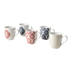 DOFTRIK mug, assorted designs Height: 10 cm Volume: 36 cl Package quantity: 1 pack