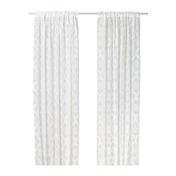 DOFTRIK sheer curtains, 1 pair, white Length: 250 cm Width: 145 cm Package quantity: 2 pieces