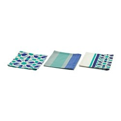 DOFTRIK tea towel, blue Length: 70 cm Width: 50 cm Package quantity: 3 pieces