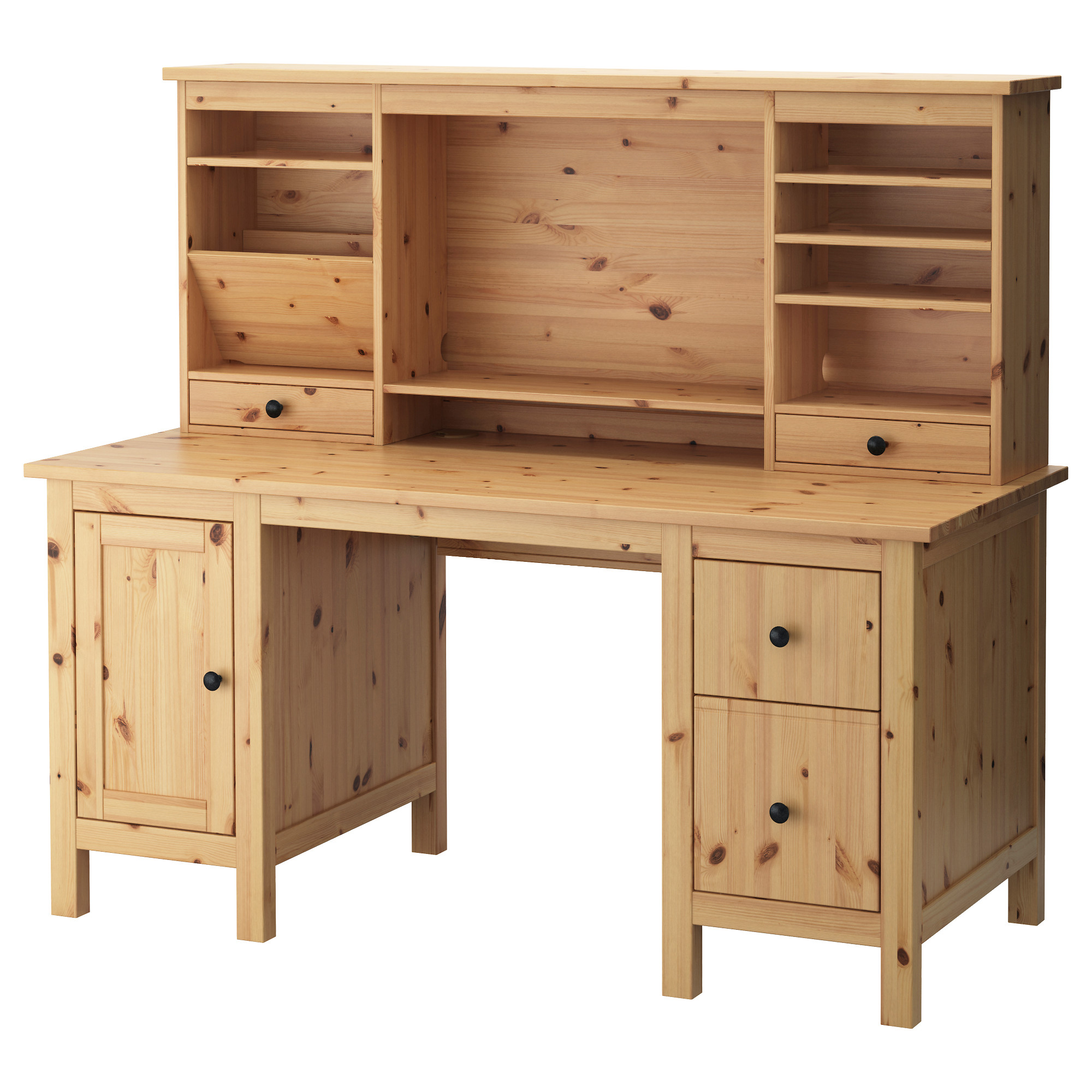Bureau bois ikea for Meuble informatique solde
