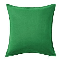 GURLI cushion cover, medium green Length: 50 cm Width: 50 cm