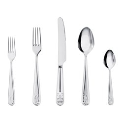 ÄTBART, 20-piece flatware set, stainless steel