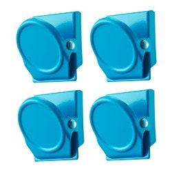 OLEBY clip with magnet, turquoise Package quantity: 4 pack