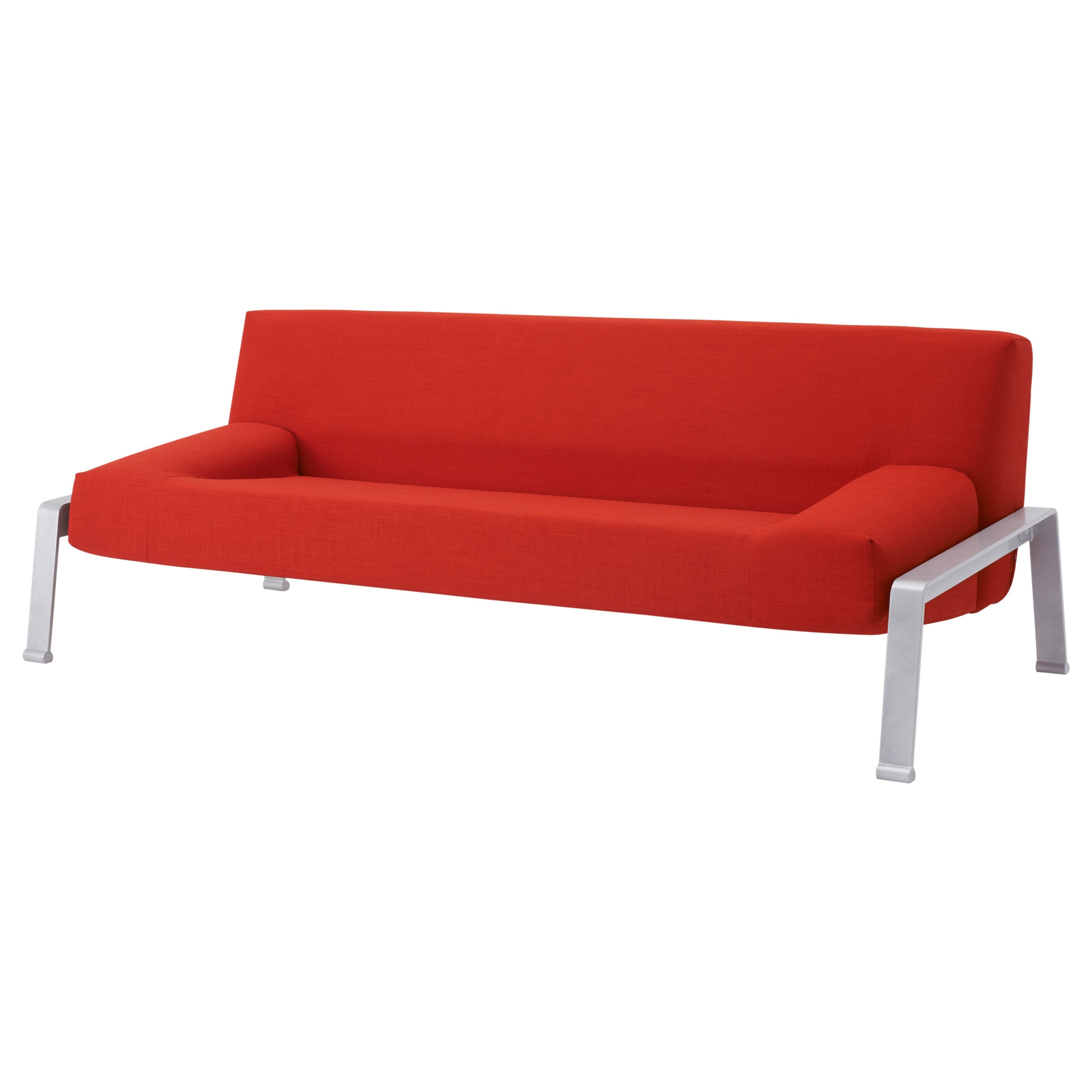 ERSKA sleeper sofa, Skiftebo orange Length, open: 78 3/4