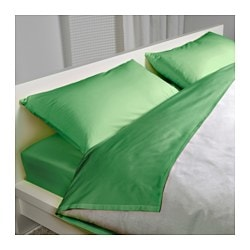 DVALA sheet set, green Thread count: 144 square inches Thread count: 144 square inches