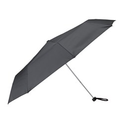 "KNALLA umbrella, foldable black Min. length: 7 7/8 "" Max. length: 22 1/2 "" Diameter: 37 ½ "" Min. length: 20 cm Max. length: 57 cm Diameter: 95 cm"