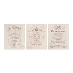 TRILLING poster, set of 3, French establishments Width: 40 cm Height: 50 cm