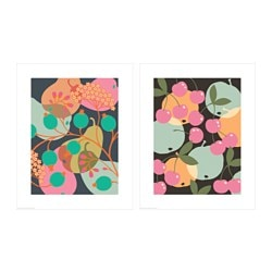 TVILLING poster, set of 2, fruity mix Width: 40 cm Height: 50 cm