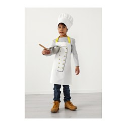 TOPPKLOCKA Childrenu0027s apron with chefu0027s hat white/yellow  sc 1 st  Ikea & TOPPKLOCKA Childrenu0027s apron with chefu0027s hat - IKEA
