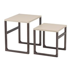 RISSNA nest of tables, set of 2, beige