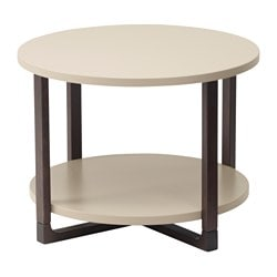 RISSNA side table, beige Diameter: 60 cm Height: 45 cm