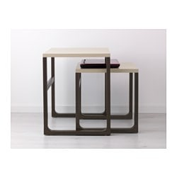 Stockholm ikea and tables gigognes on pinterest - Ikea tables gigognes ...