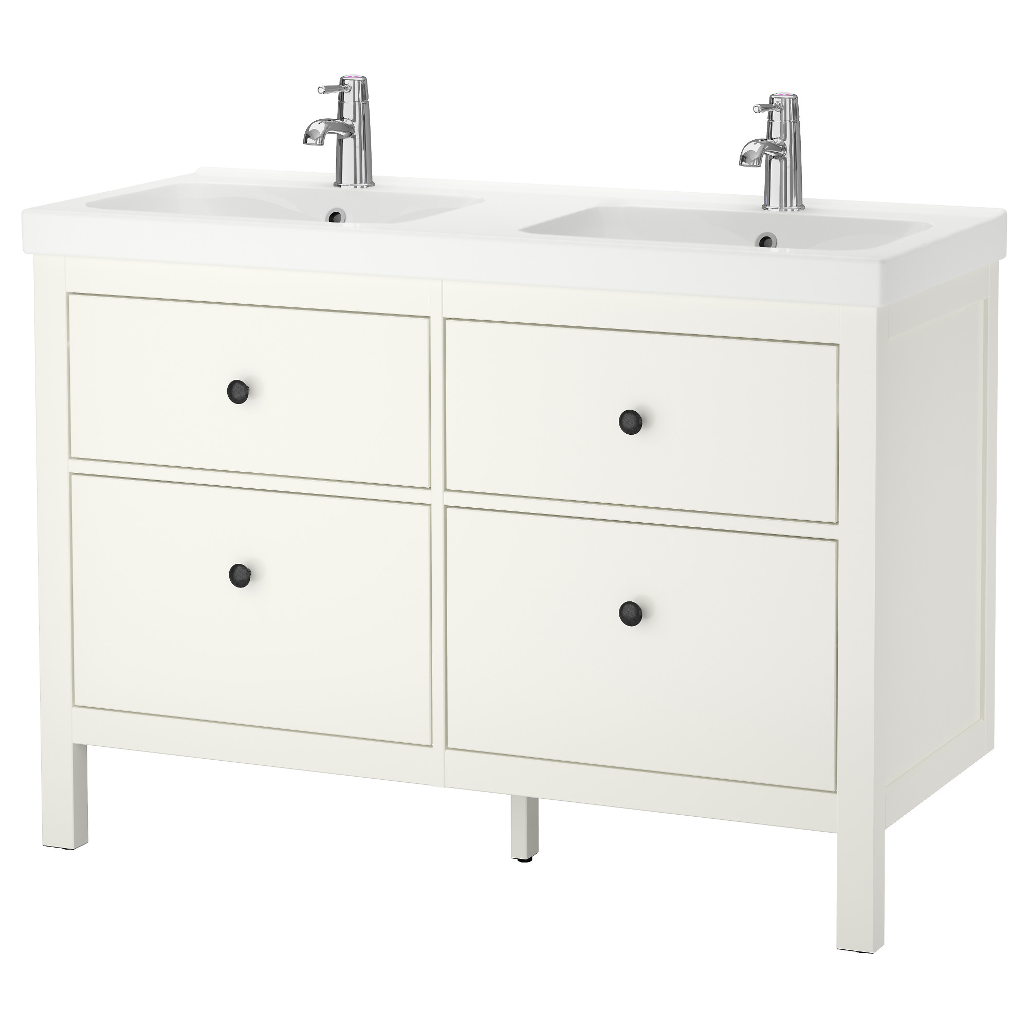 bathroom sink cabinets white. hemnes / odensvik sink cabinet with 4 drawers, white width: 47 1/4 bathroom cabinets 0