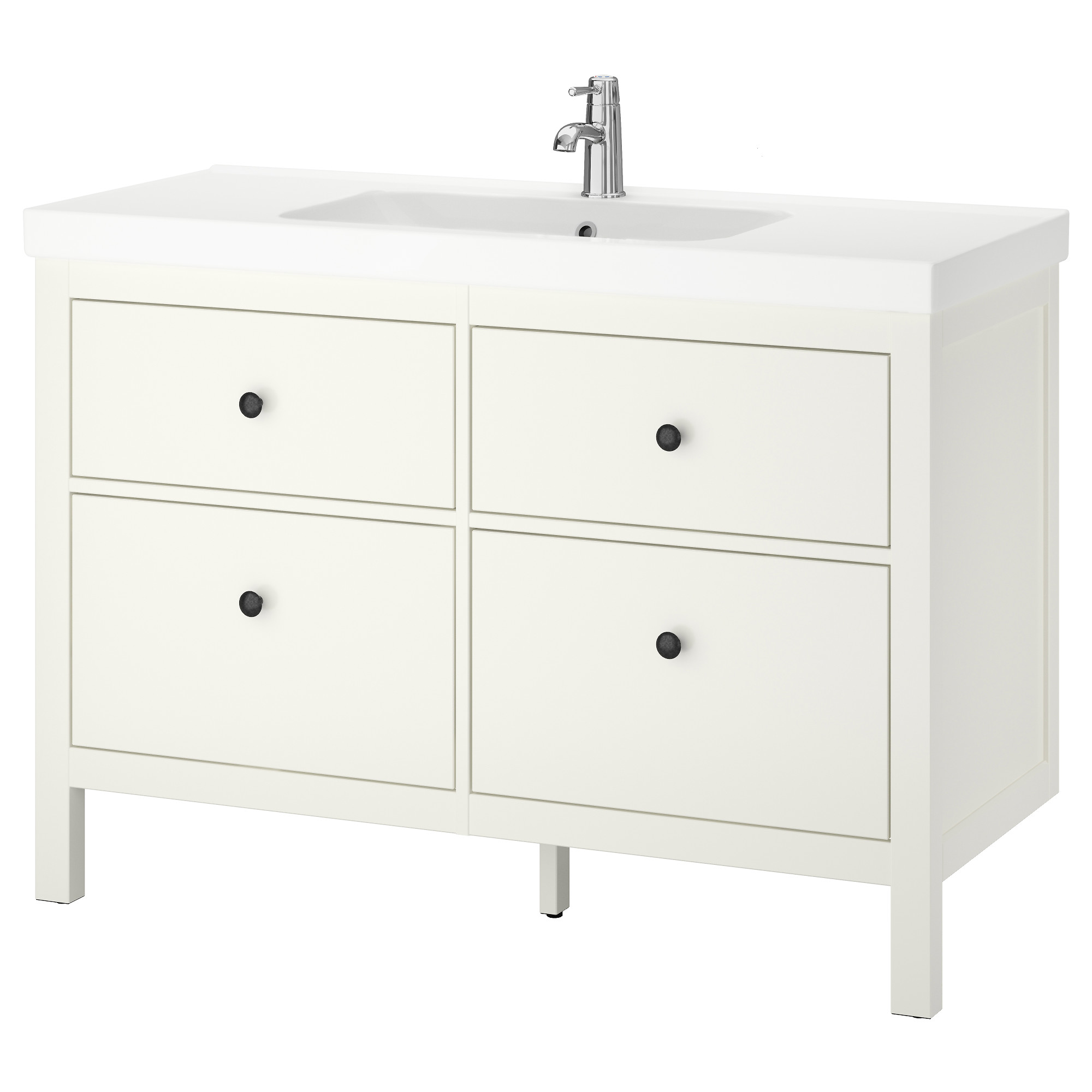 Hemnes Odensvik Sink Cabinet With 4 Drawers White Width 47 1 4