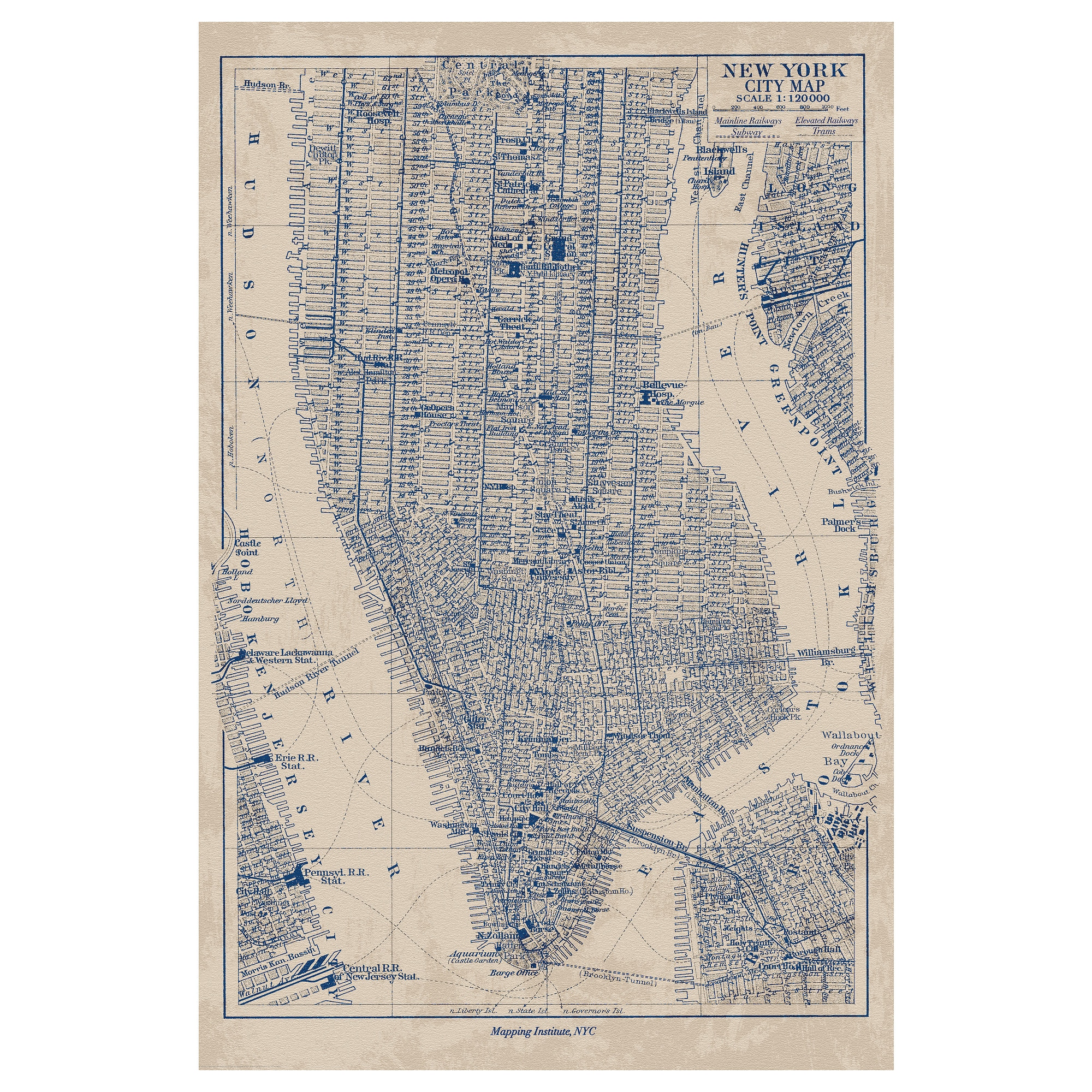 New York State New York State New York Map Art Print Map Print - Nyc map art