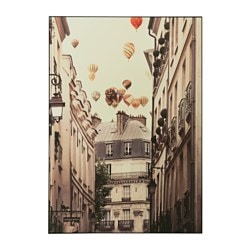 VILSHULT picture, flying over Paris Width: 100 cm Height: 140 cm