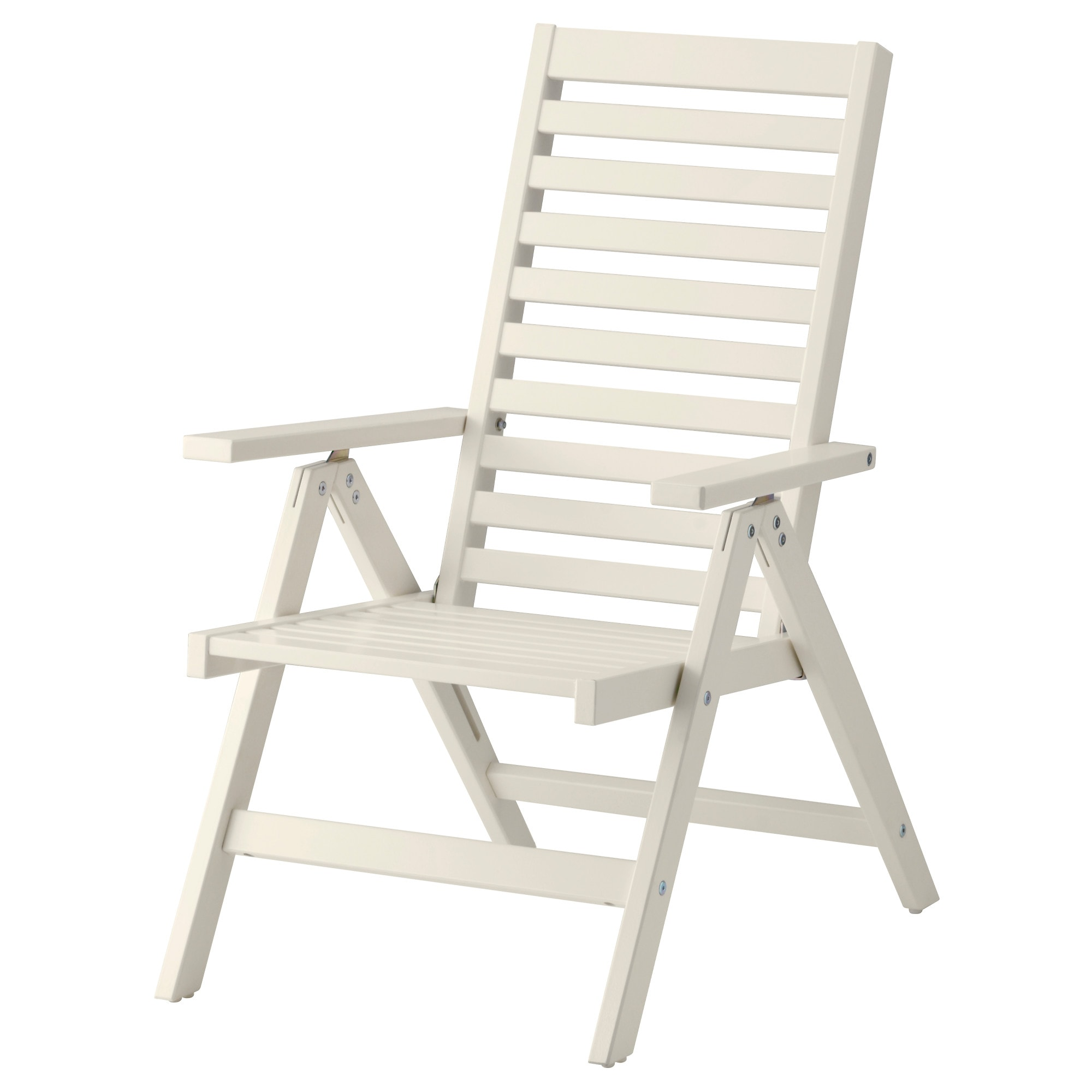 """PPLAR– Reclining chair outdoor foldable white IKEA"