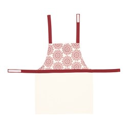 "VINTER 2015 children's apron, red, white Length: 22 "" Length: 56.5 cm"