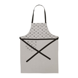 "VINTER 2015 apron, black, gray Length: 38 "" Length: 97 cm"