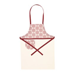 "VINTER 2015 apron, red, white Length: 38 "" Length: 97 cm"