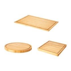 OLEBY chopping board, set of 3, bamboo