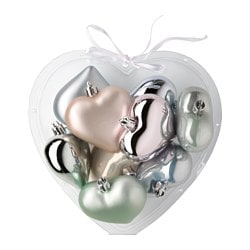 VINTER 2015 hanging decoration, heart assorted pastel colours Height: 6 cm Package quantity: 9 pack