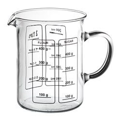 BENUNGE jug, transparent Height: 13 cm Volume: 0.6 l