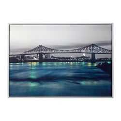 "ARENTORP picture, Jacques Cartier bridge, Montreal Width: 55 "" Height: 39 ¼ "" Width: 140 cm Height: 100 cm"