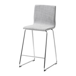 VOLFGANG bar stool with backrest, chrome-plated, Isunda grey Tested for: 110 kg Width: 51 cm Depth: 46 cm