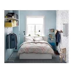 Malm Storage Bed White