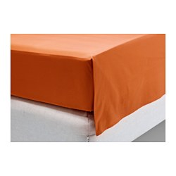 DVALA sheet, orange Thread count: 144 /inch² Length: 260 cm Width: 240 cm